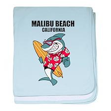 Malibu Beach, California baby blanket