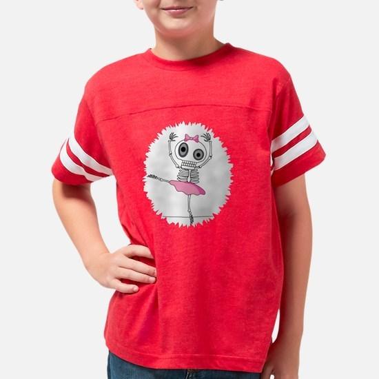 Cute Skeleton Ballerina Youth Football Shirt