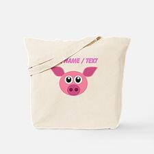 Custom Funny Pink Pig Tote Bag