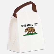 Custom California Bear Canvas Lunch Bag