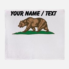 Custom California Bear Throw Blanket