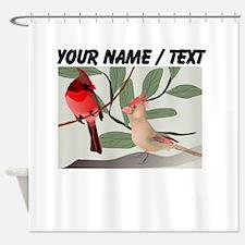 Custom Cardinals Shower Curtain