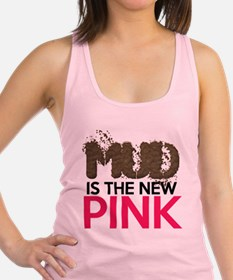Mud Is The New Pink Racerback Tank Top