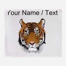 Custom Bengal Tiger Throw Blanket