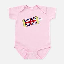 Union Jack Baby Bottle Infant Bodysuit