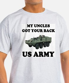 My Uncles Got Your Back ARMY Ash Grey T-Shirt