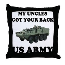My Uncles Got Your Back ARMY Throw Pillow