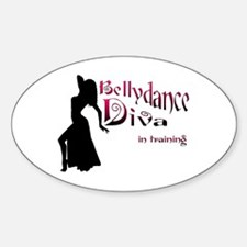 Diva in training Oval Decal