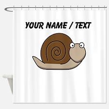 Custom Cartoon Snail Shower Curtain