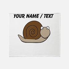 Custom Cartoon Snail Throw Blanket