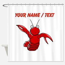 Custom Cartoon Lobster Shower Curtain