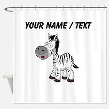 Custom Cartoon Zebra Shower Curtain
