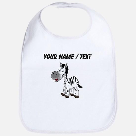 Custom Cartoon Zebra Bib