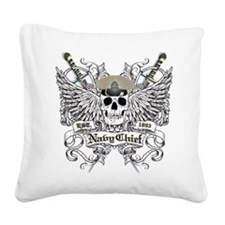 Chief wingskull Square Canvas Pillow