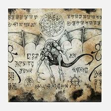 Dragon Runes Tile Coaster