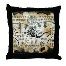 Dragon Runes Throw Pillow