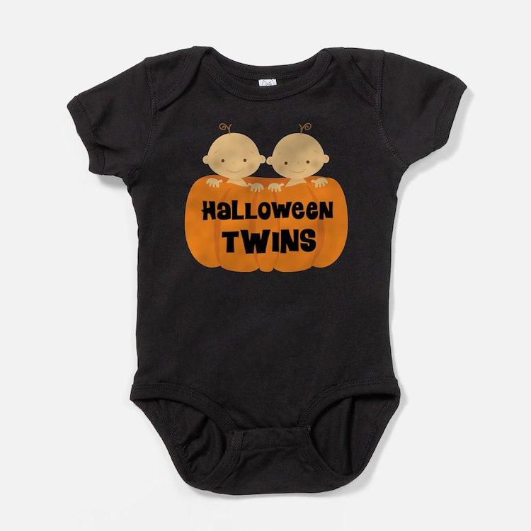 Halloween Twins Baby Bodysuit