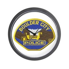 Boulder Cfity Police Wall Clock