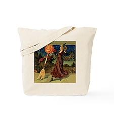 Vintage Halloween Dancing Witch Tote Bag