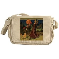 Vintage Halloween Dancing Witch Messenger Bag