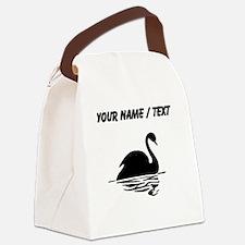 Custom Black Swan Silhoutte Canvas Lunch Bag