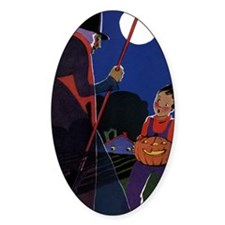 Vintage Halloween Witch Decal