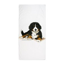 Bernese Mountain Dog Bright Eyes Beach Towel