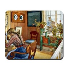Correspondence, painting by Carl Larsson Mousepad