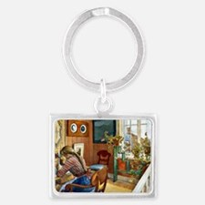 Correspondence, painting by Car Landscape Keychain