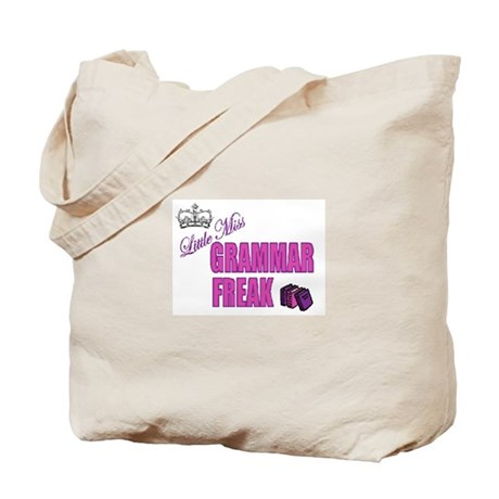 Little Miss Grammar Freak Tote Bag