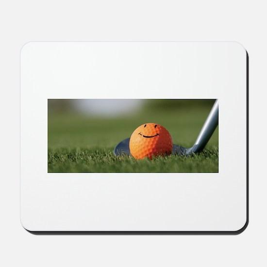 golf smiley Mousepad