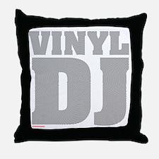 Vinyl DJ Grooves Throw Pillow