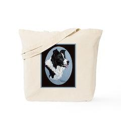 Border Collie Profile Tote Bag