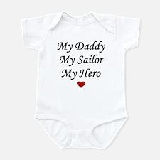 My Daddy My Sailor My Hero Heart Infant Bodysuit