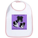 Bordering on Insanity (Border Collies) Bib
