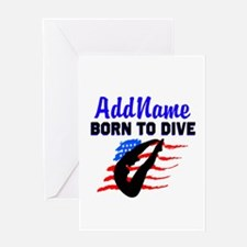 AWESOME DIVER Greeting Card
