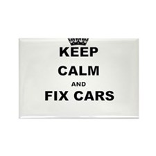 KEEP CALM AND FIX CARS Magnets