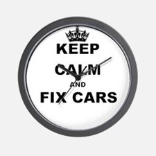 KEEP CALM AND FIX CARS Wall Clock
