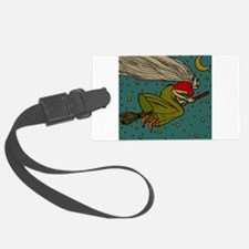 Vintage Halloween Witch Flying Luggage Tag