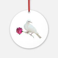 Dove Rose Ornament (Round)