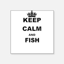 KEEP CALM AND FISH Sticker