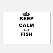 KEEP CALM AND FISH Postcards (Package of 8)