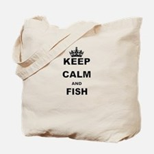 KEEP CALM AND FISH Tote Bag