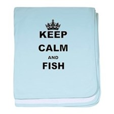 KEEP CALM AND FISH baby blanket