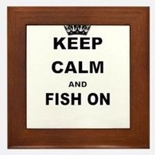 KEEP CALM AND FISH ON Framed Tile
