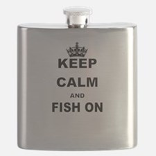 KEEP CALM AND FISH ON Flask