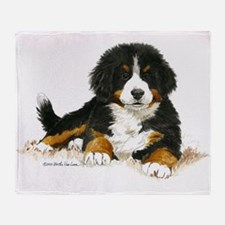 Bernese Mountain Dog Bright Eyes Throw Blanket