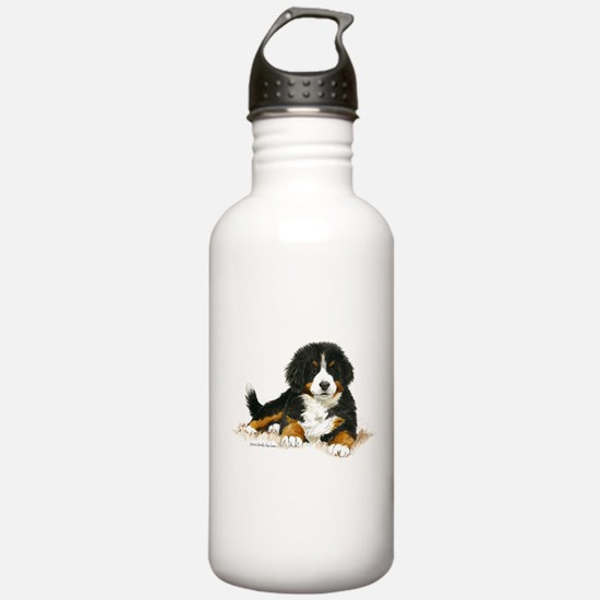 Bernese Mountain Dog Bright Eyes Water Bottle