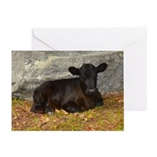 Vermont Calf lying Down Greeting Card