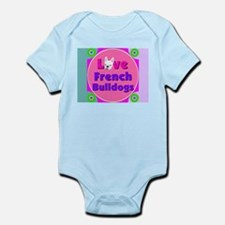 Love French Bulldogs Infant Bodysuit